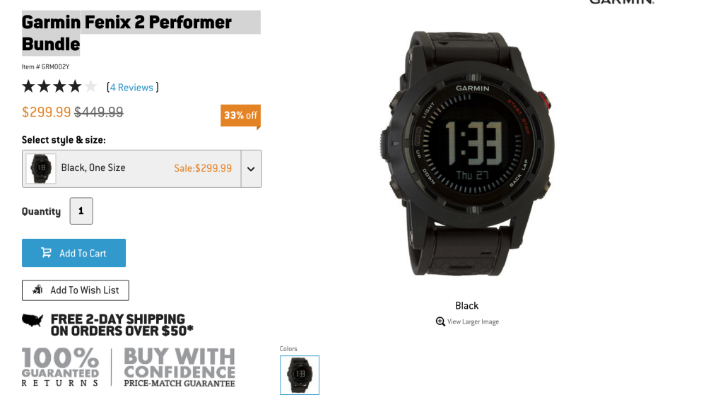 Garmin Fenix 2 Performer fitness smartwatch-sale-01