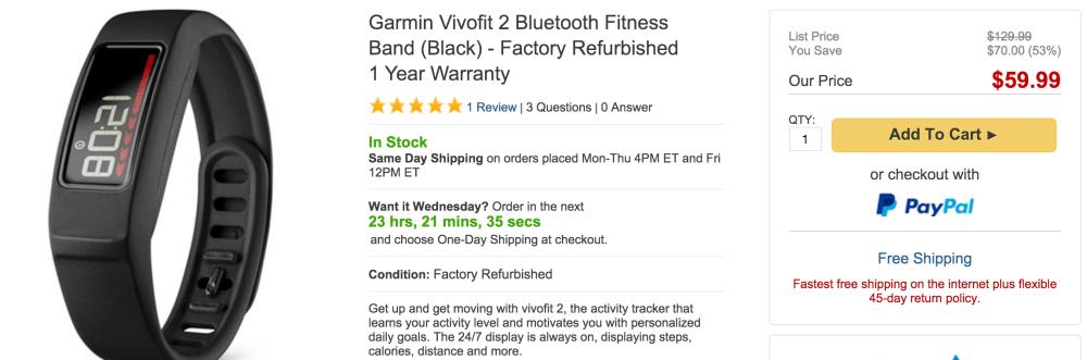 Garmin Vivofit 2 Bluetooth Fitness Band in black-sale-02