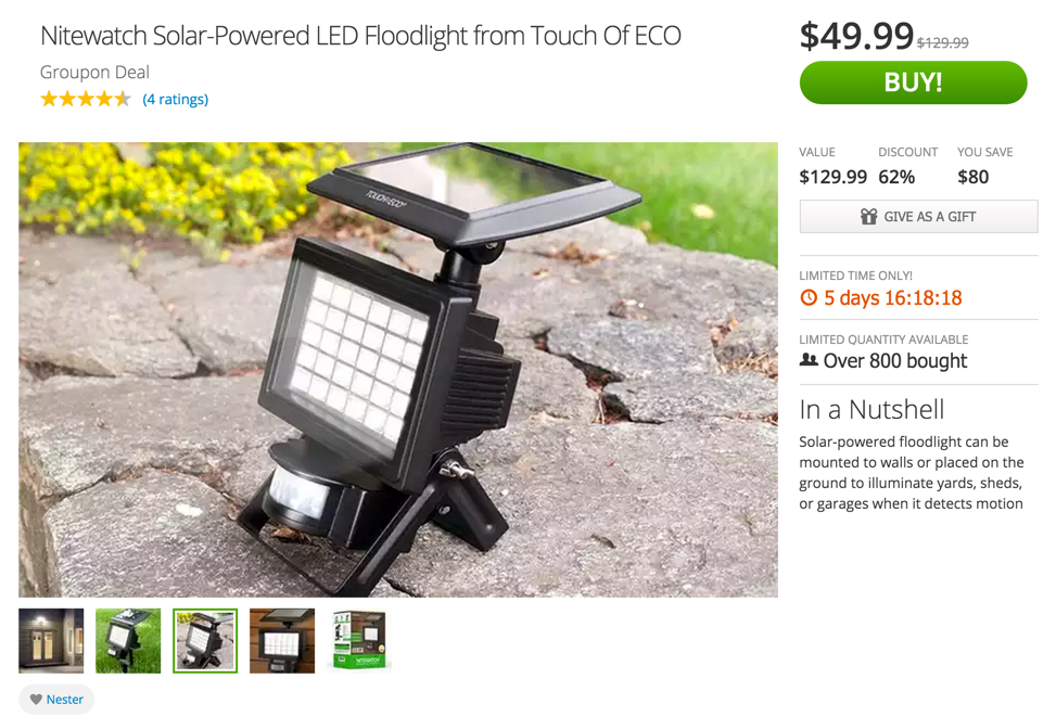 Outdoor Solar Lights Nitewatch Led Floodlight 50 Two