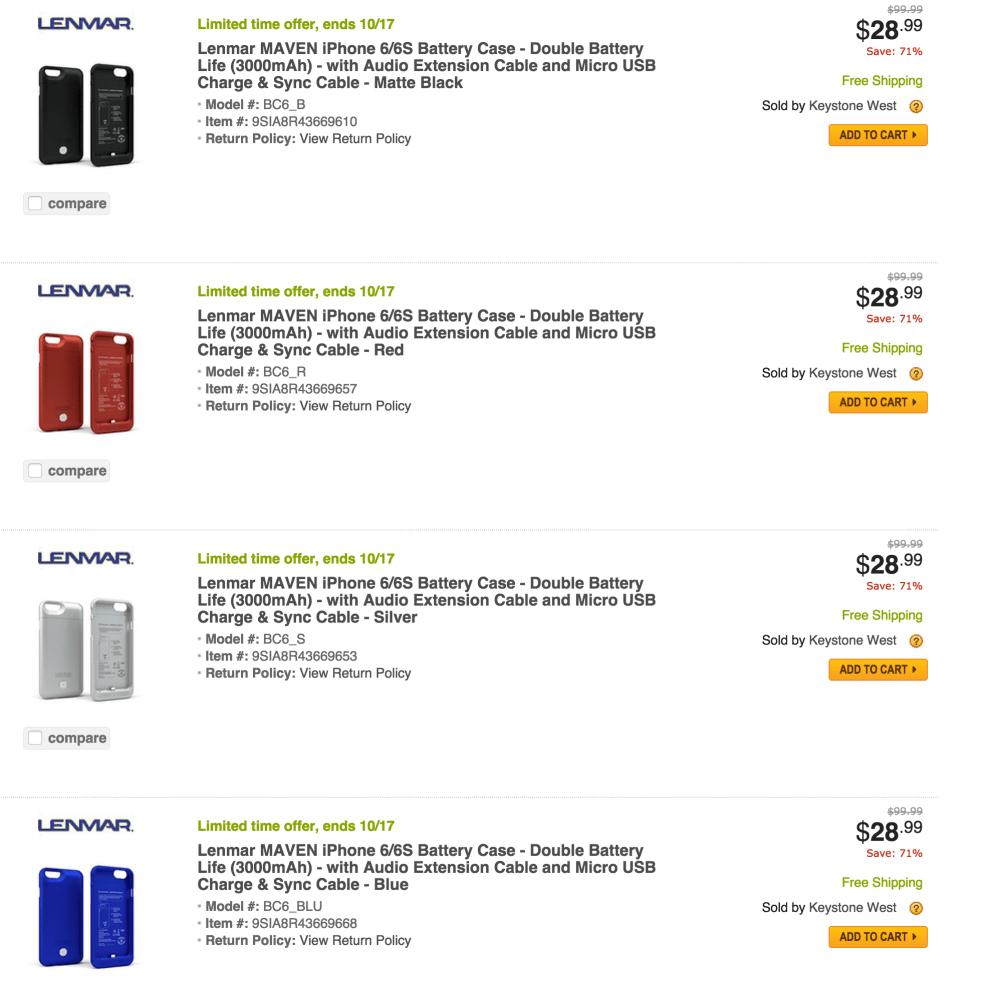 Lenmar MAVEN iPhone 6 MFi Apple-Certified 3,000mAh Battery Case-sale-01
