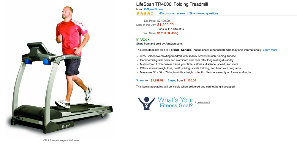 LifeSpan TR4000i Folding Treadmill-sale-Gold Box-02