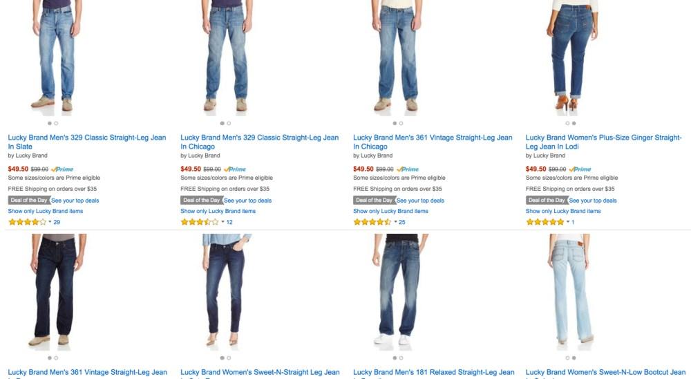 lucky jeans sale amazon