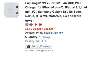 Lumsing dual port wall charger