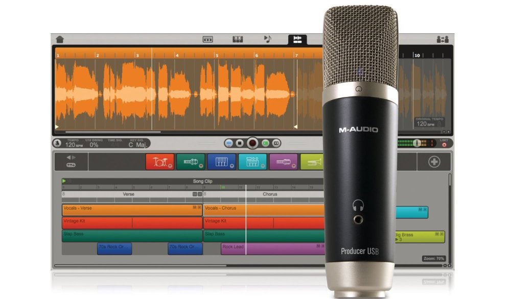 M-Audio Vocal Studio Digital Recording Bundle and USB Condenser Microphone-sale-01