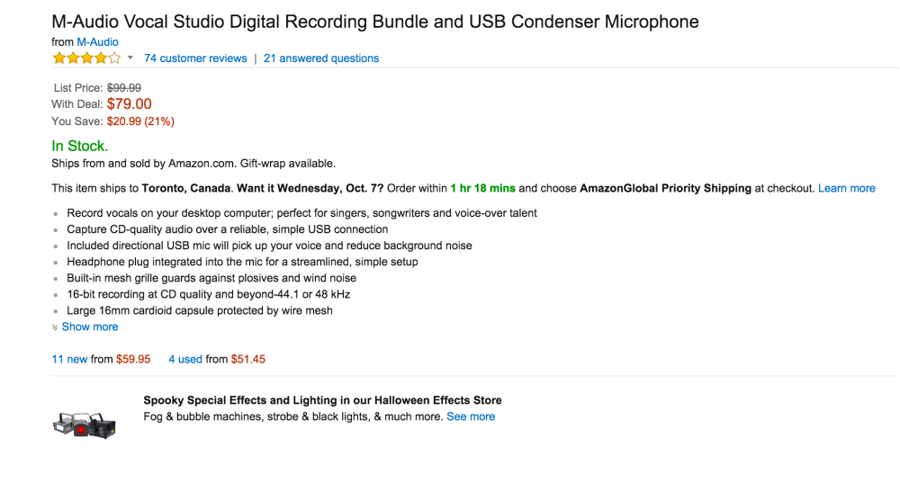 M-Audio Vocal Studio Digital Recording Bundle and USB Condenser Microphone-sale-03