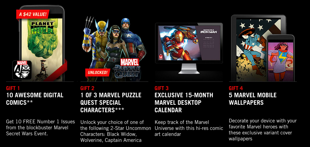 Marvel Unlimited subscription between 10:8 and 10:11