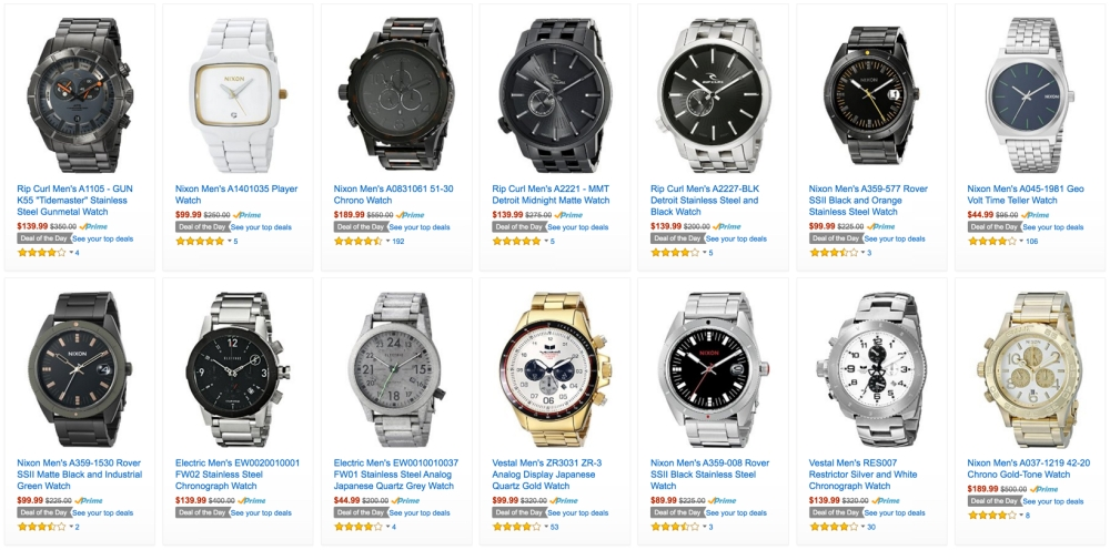mens watches amazon gold box deal