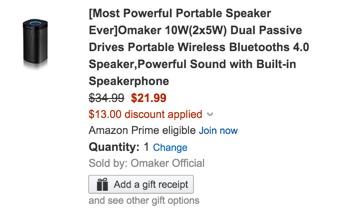 omaker bluetooth speaker amazon