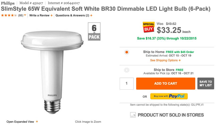 Philips slim style lights six pack