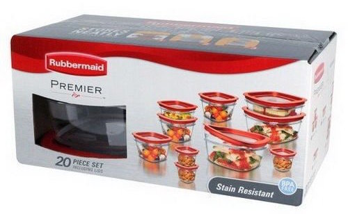Rubbermaid 20-Piece Premier Food Storage Container Set-sale-01