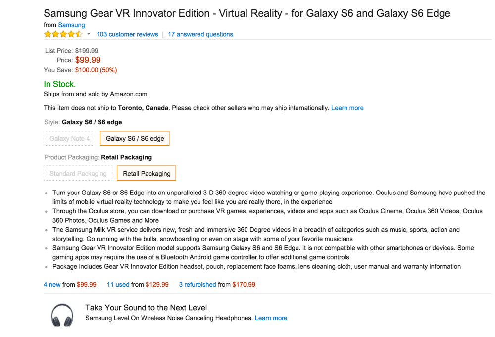 Samsung Gear VR Innovator Edition Virtual Reality headset (for Galaxy S6 and Galaxy S6 Edge)-sale-03