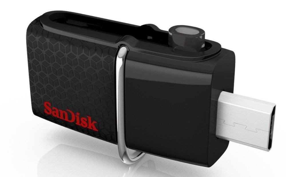 SanDisk - Ultra 32GB Micro USB:USB 3.0 Flash Drive - Black