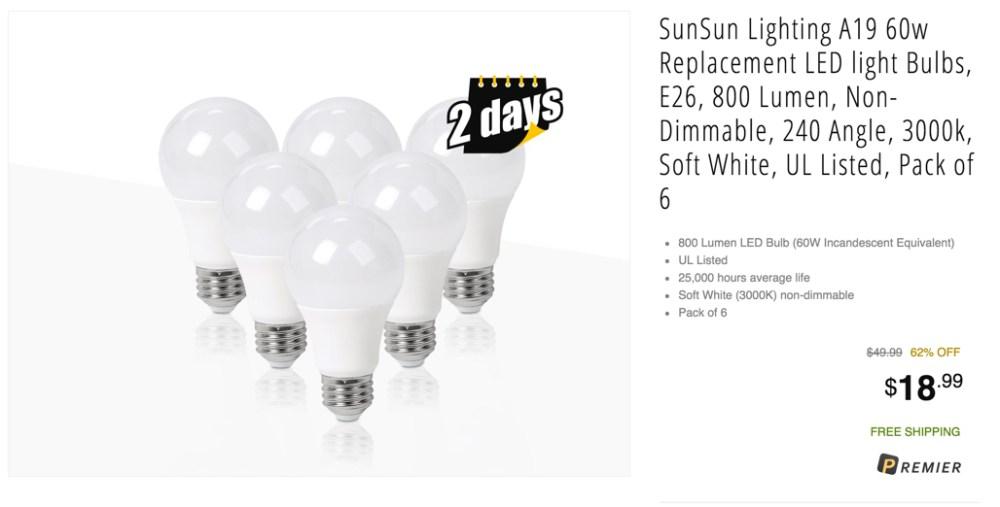 SunSun bulbs at newegg flash