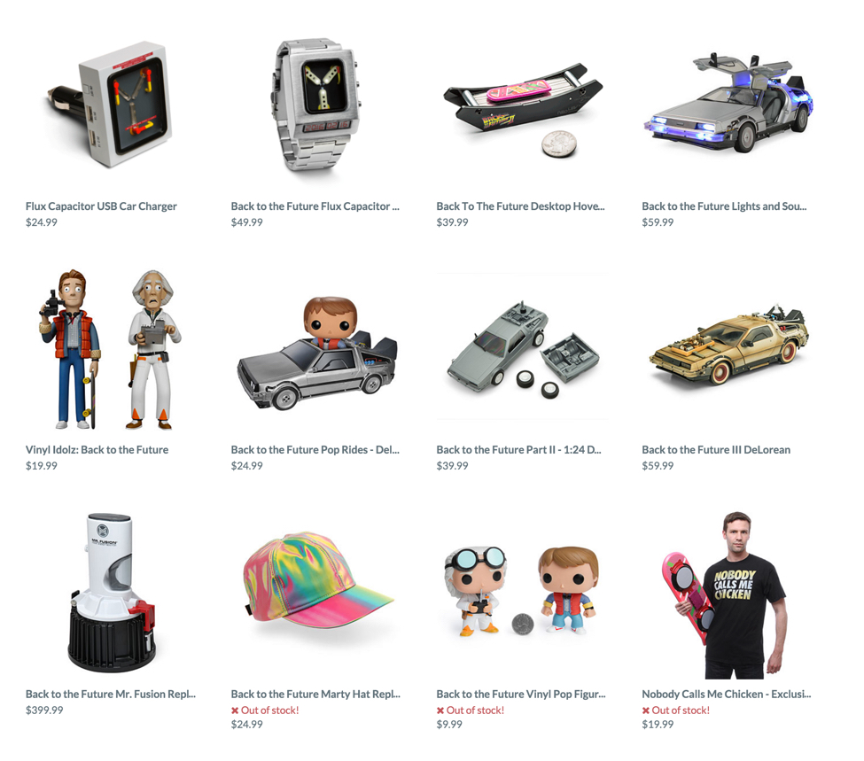 ThinkGeek Back to the Future