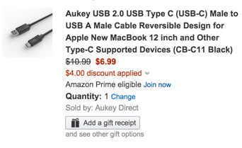 usb c adapter black amazon aukey