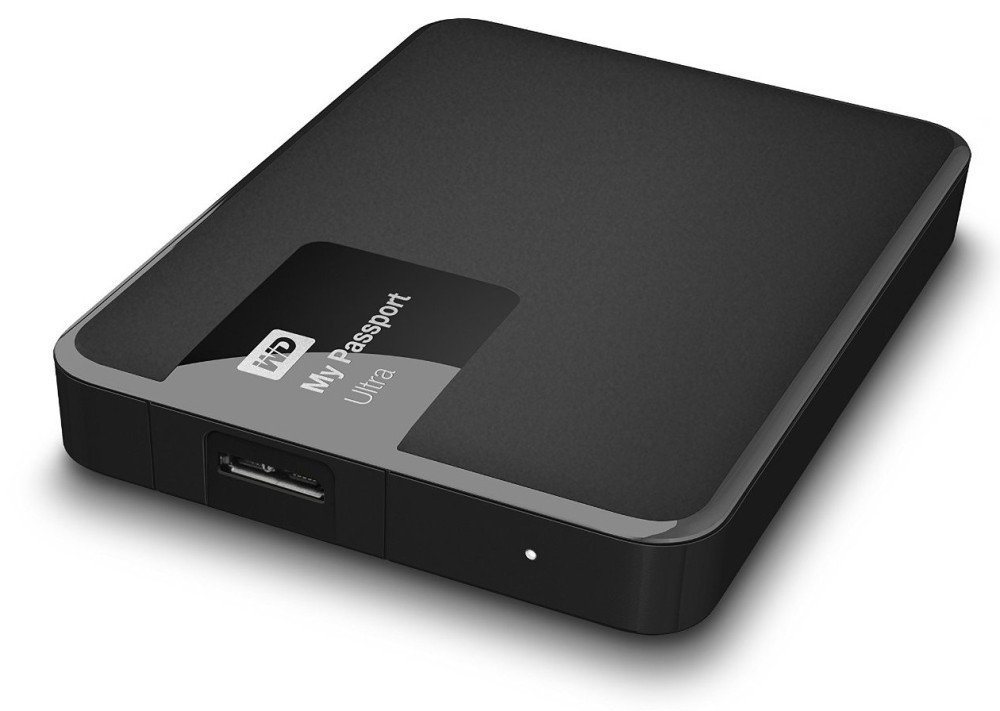 WD My Passport Ultra 3TB USB 3.0 Portable External Hard Drive, 256-bit Hardware Encryption, Classic Black (2015)