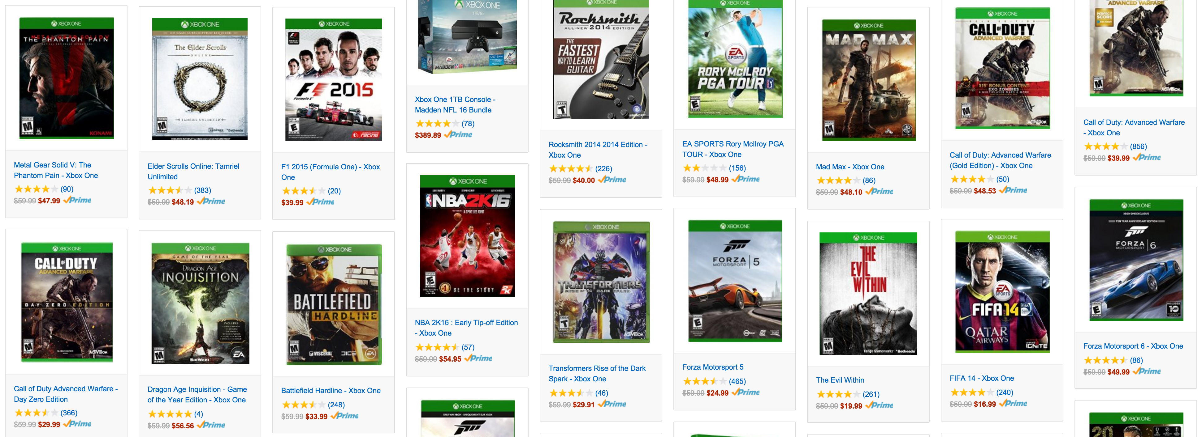Games/Apps: Kinect Xbox One bundle w/ 4 games $399 ($540+ value), 50