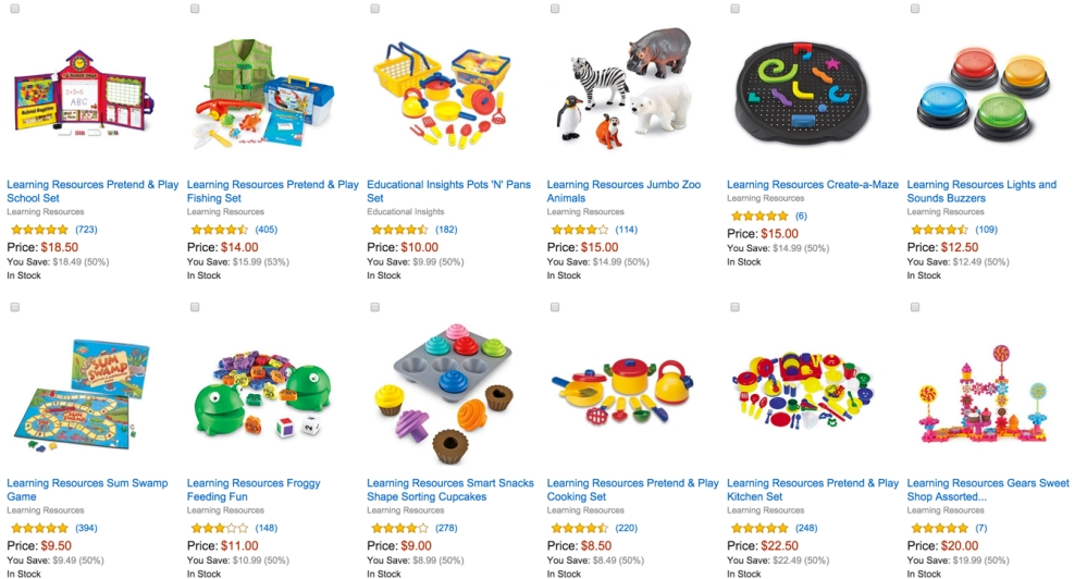 50% Off Select Learning Resources Toys