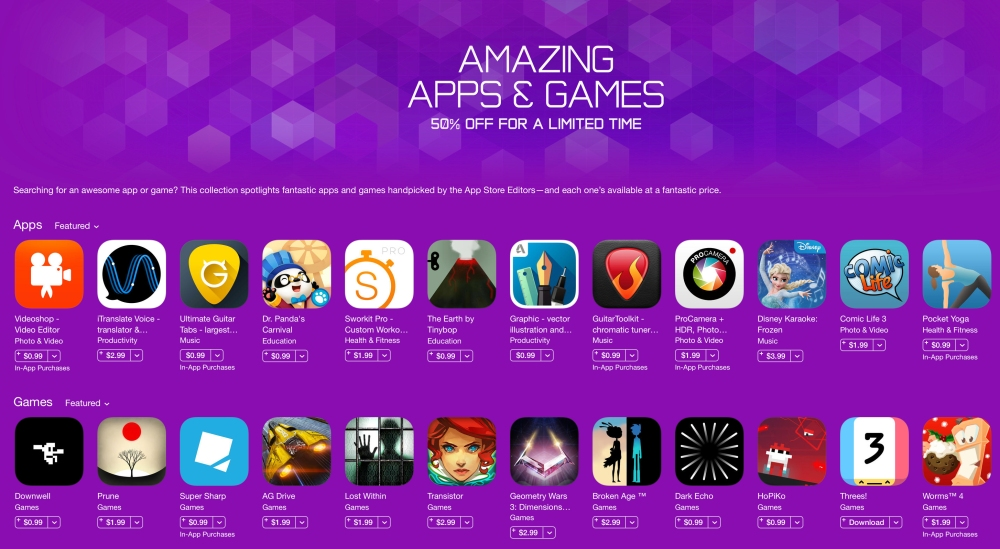 Amazing Apps & Games-iOS sale