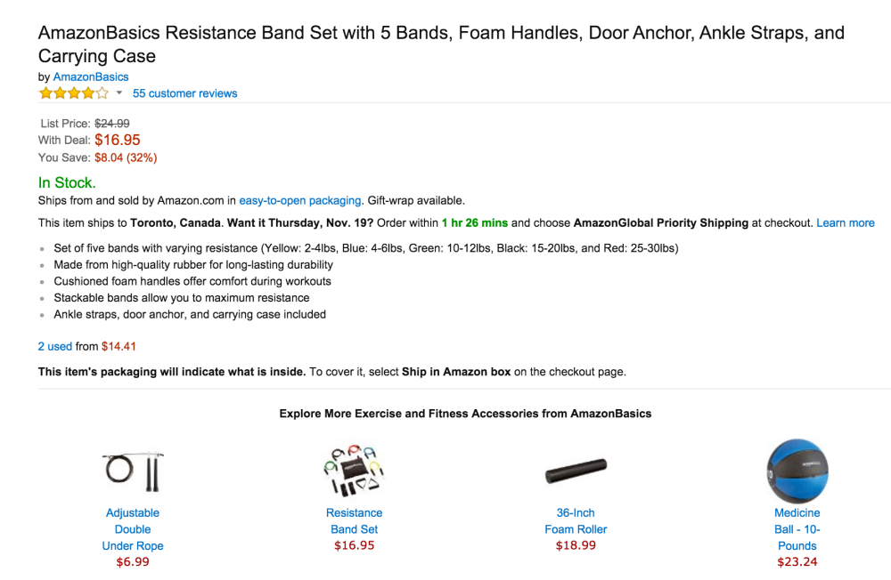 AmazonBasics Resistance Band Set with Foam Handles-01