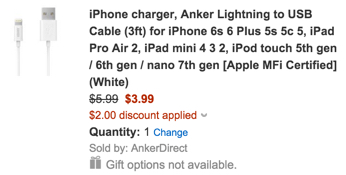 Anker MFi lightning cable
