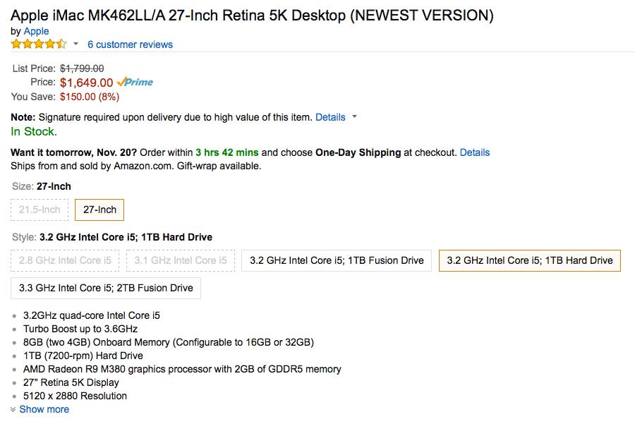 Apple-iMac-Amazon