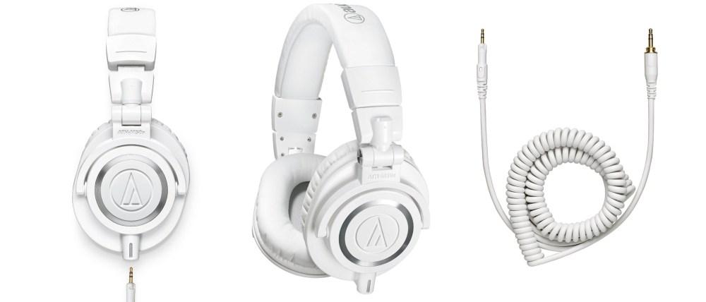 Audio-Technica ATH-M50x Professional Studio Monitor Headphones in white-03