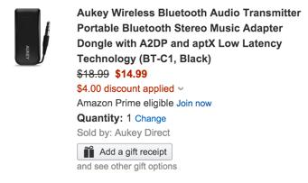AUkey BT transmitter