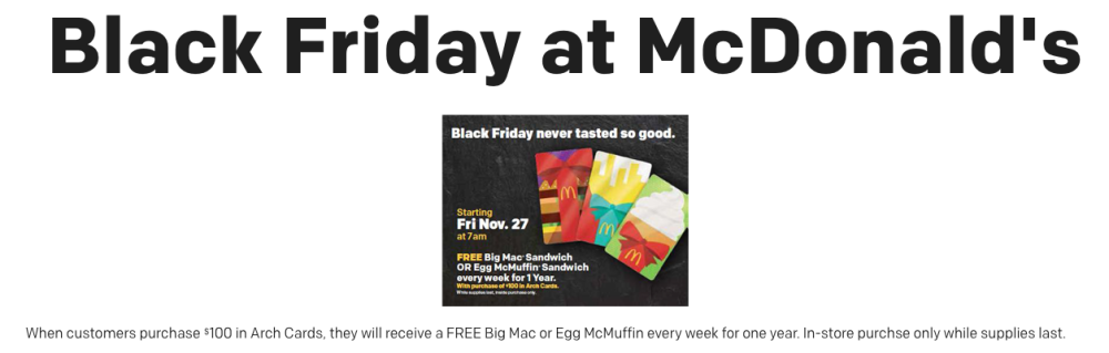 Black Friday at McDonald's