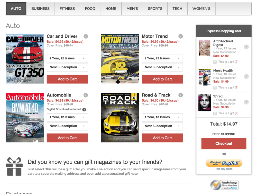 Black Friday Magazine Deals start now from under Wired, Popular Science, Dwell, Rolling Stone, GQ, ESPN, more