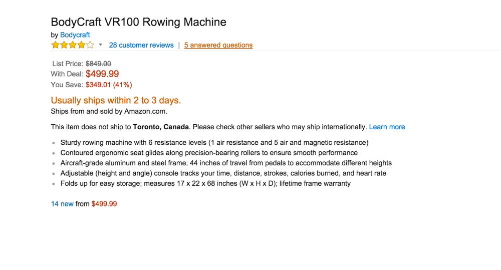 BodyCraft VR100 Rowing Machine-sale-02
