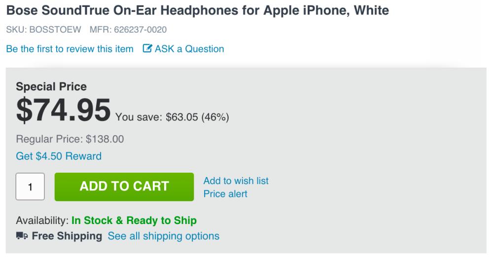 bose-soundtrue-on-ear-headphones-adorama-deal