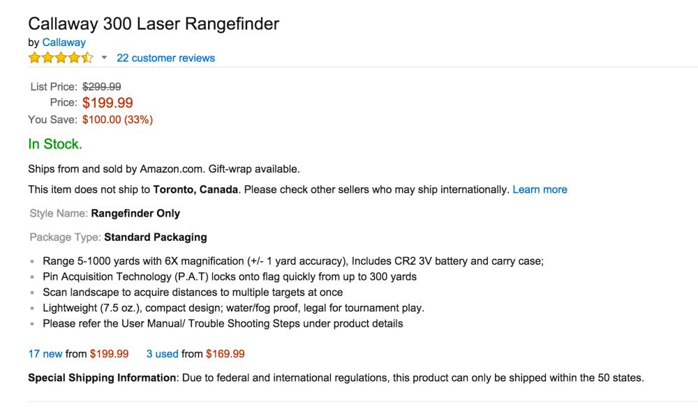 Callaway 300 Laser Rangefinder-sale-02
