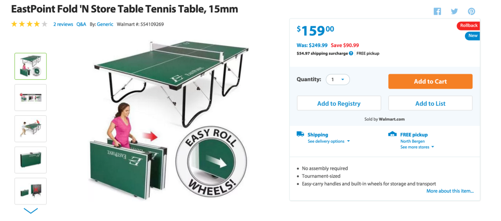 EastPoint Fold 'N Store Table Tennis Table-sale-03