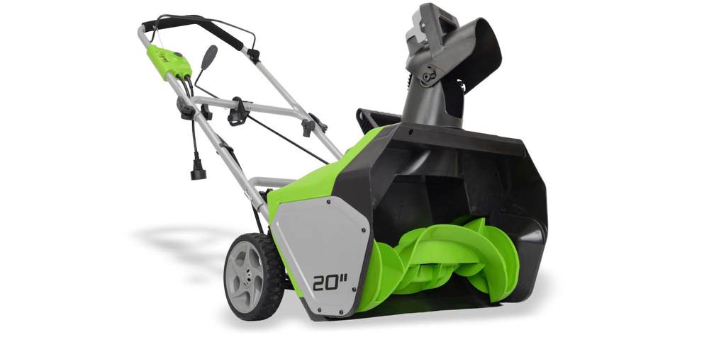 GreenWorks 13 Amp 20%22 Corded Snow Thrower Gold Box