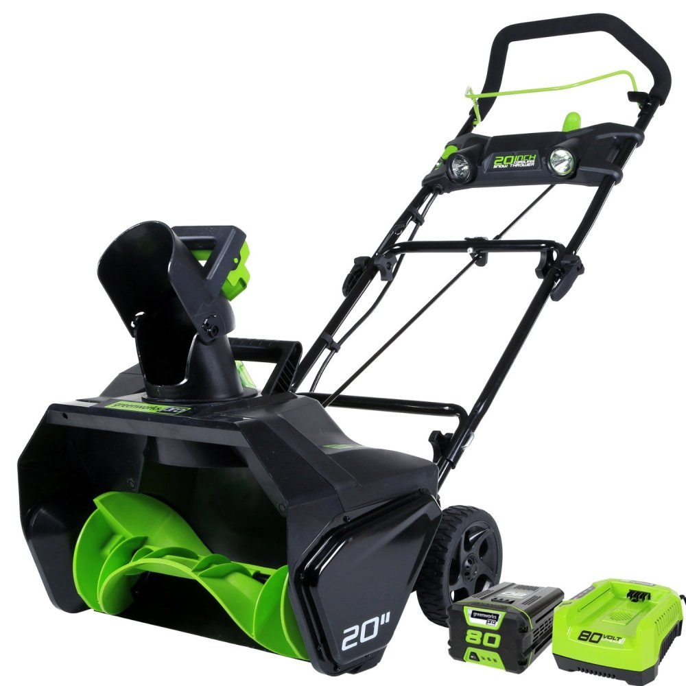GreenWorks Pro 80V 20%22 Snow Thrower w: 2Ah Battery & Charger-sale-01