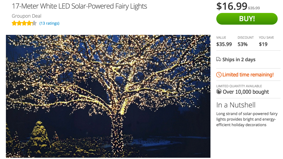 Groupon solar lights