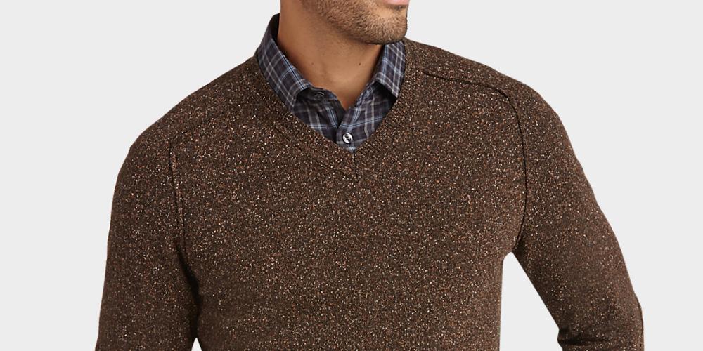 Joseph Abboud Men's V-Neck Modern Fit Sweater