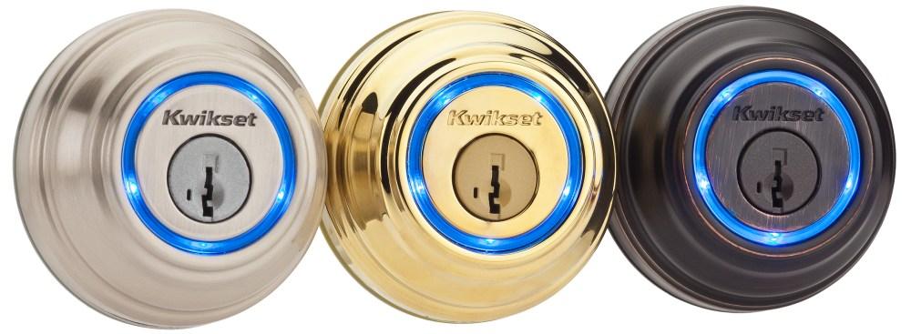 Kwikset - Refurbished Kevo Bluetooth Deadbolt - Satin Nickel-sale-01