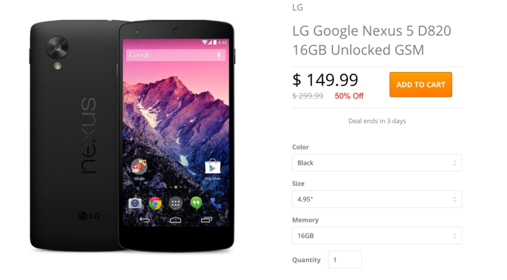 LG Google Nexus 5 D820 16GB Unlocked GSM