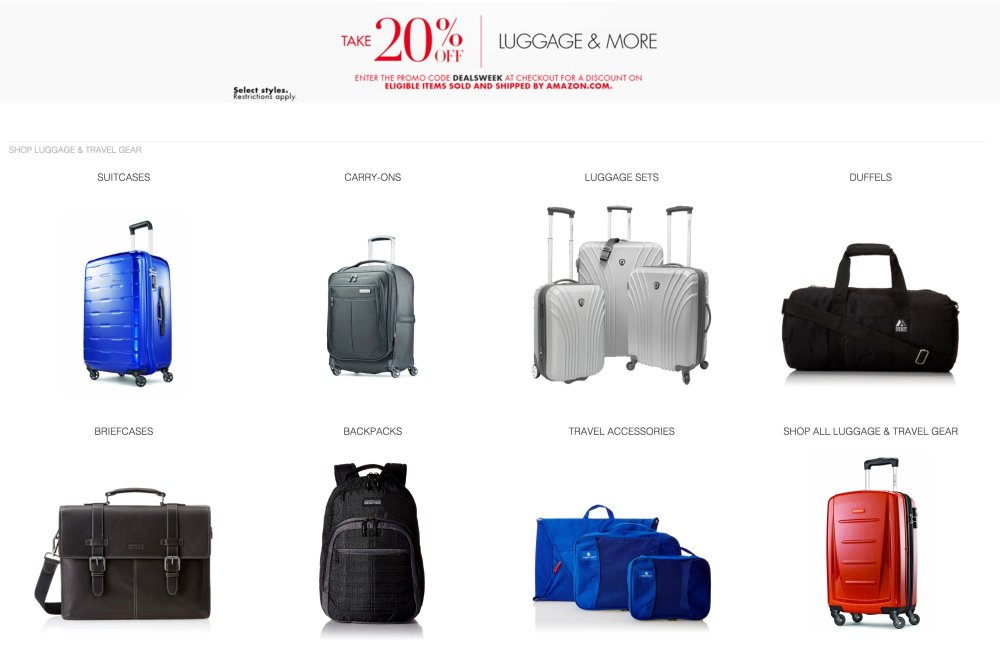 Luggage sale-Amazon