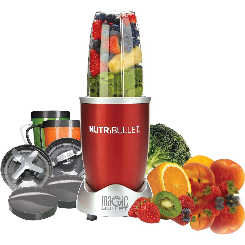 Magic Bullet 12-Piece Hi-Speed Blender:Mixer System in red (NBR-1201R)-sale-01