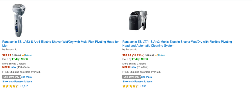 Panasonic Arc3 Men's Electric Shaver Wet:Dry with Flexible Pivoting Head and Automatic Cleaning Systems-sale-Gold Box-sale-01