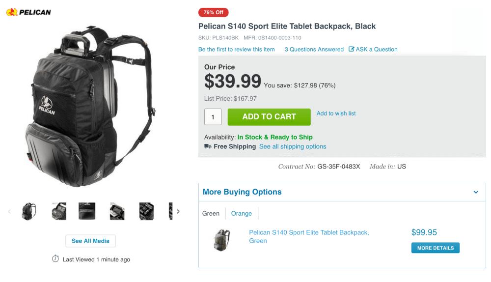 Pelican Sport Elite Tablet Backpack (S140)-sale-02