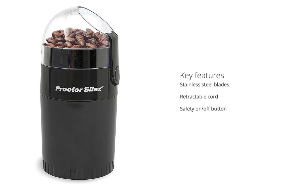 Proctor Silex Fresh Grind Coffee Grinder (E167CY)-sale-02