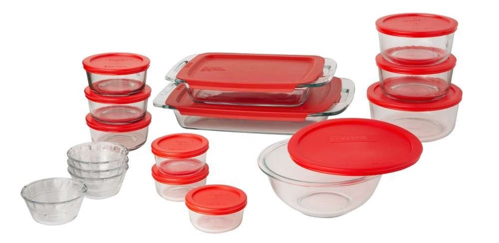 Pyrex Easy Grab 28-Piece Glass Bakeware and Food Storage Set-sale-01
