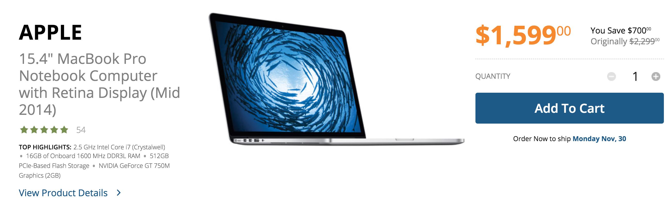Retina MacBook Pro-sale-dicount
