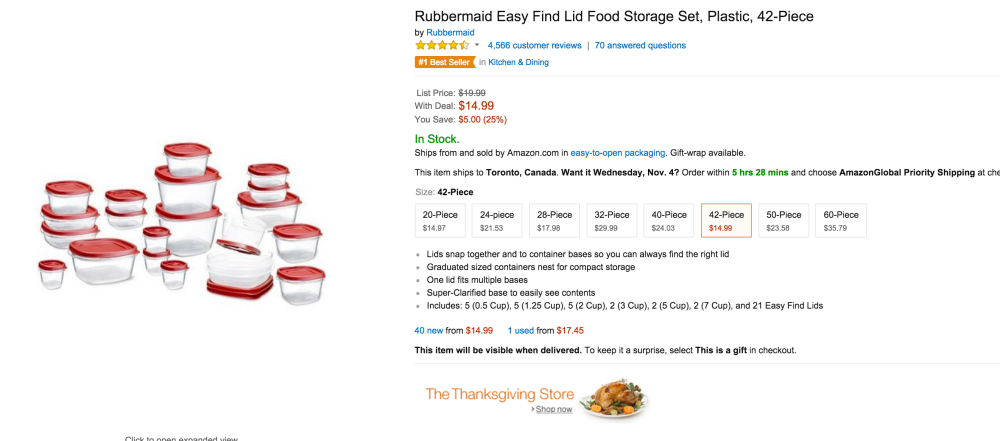 Rubbermaid Plastic 42-Piece Easy Find Lid Food Storage Set-sale-02