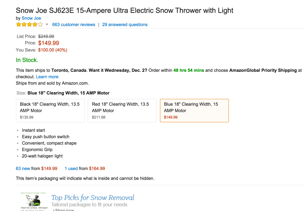 Snow Joe SJ623E 15-Ampere Ultra Electric Snow Thrower with Light-01