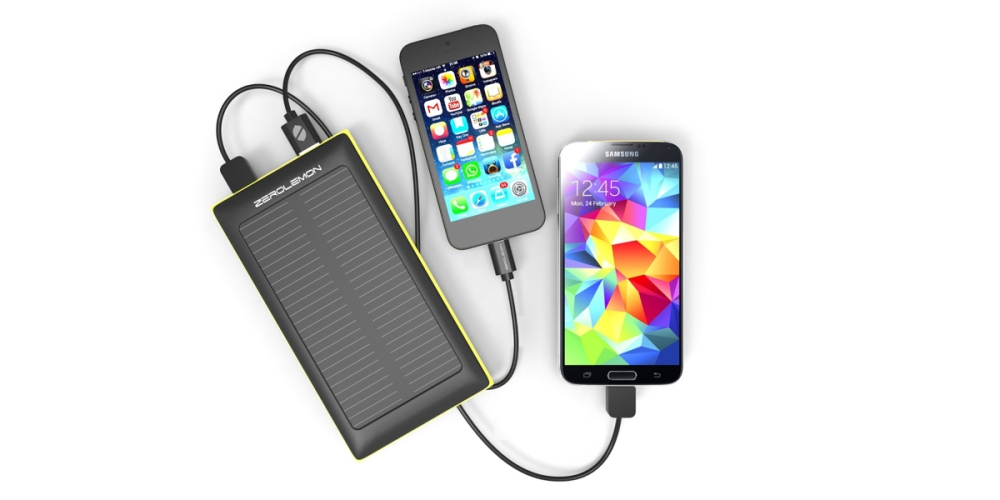 Solar Charger External Battery, ZeroLemon SolarJuice 10000mAh Fast Portable Charger External Battery Power Bank